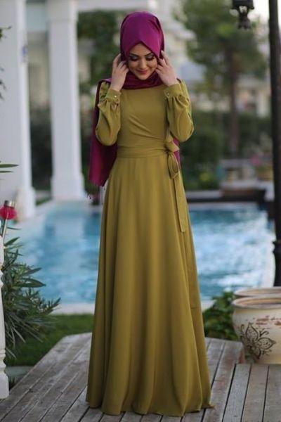 Anvelop tesettür abiye elbise