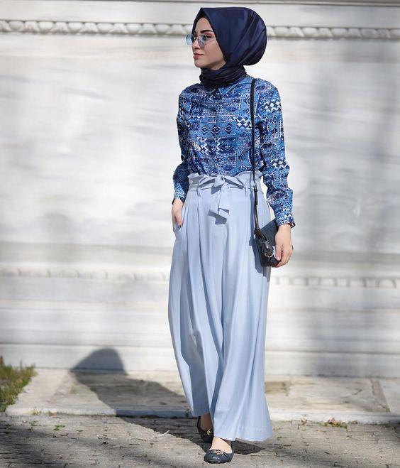 Etnik gömlek pantolon kombini