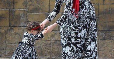 Tesettür anne kız elbise