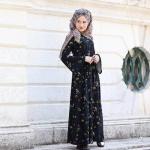 Trend tesettür çiçekli elbise