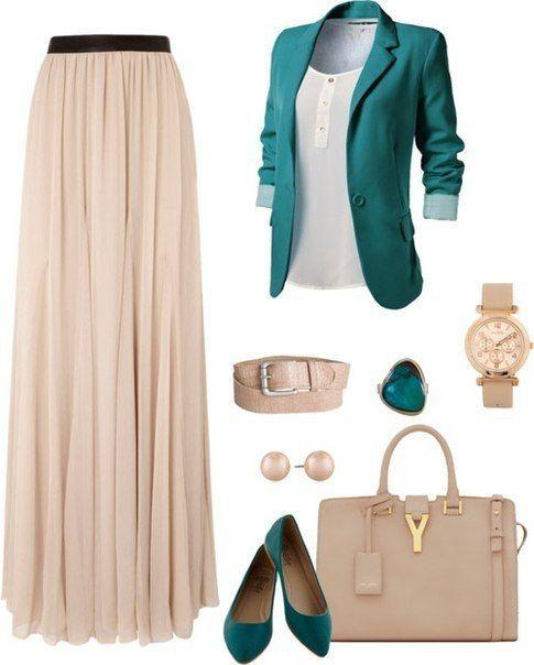 Yeşil ceket etek kombini