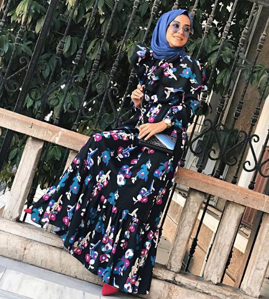 Floral-tesettur-elbise-2018