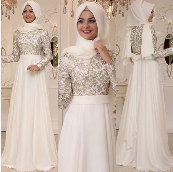 Beyaz tesettür sünnet annesi kıyafeti