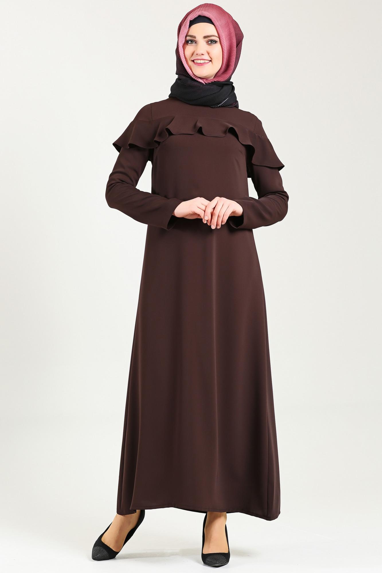 Tekbir fırfırlı elbise