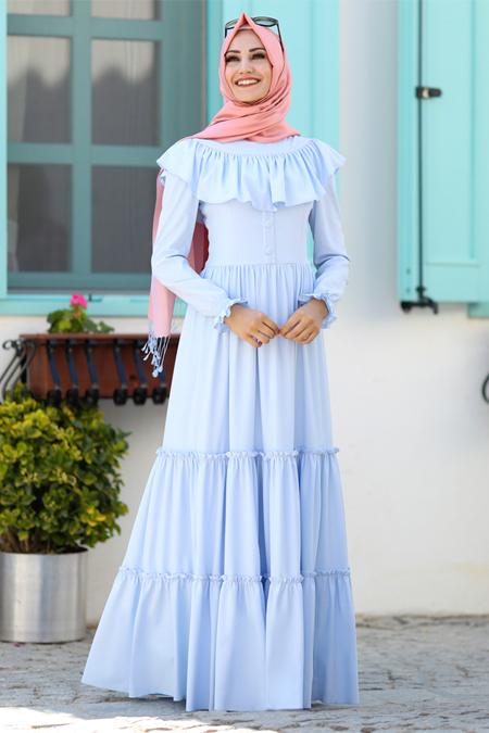 2018 ilkbahar tesettür elbise