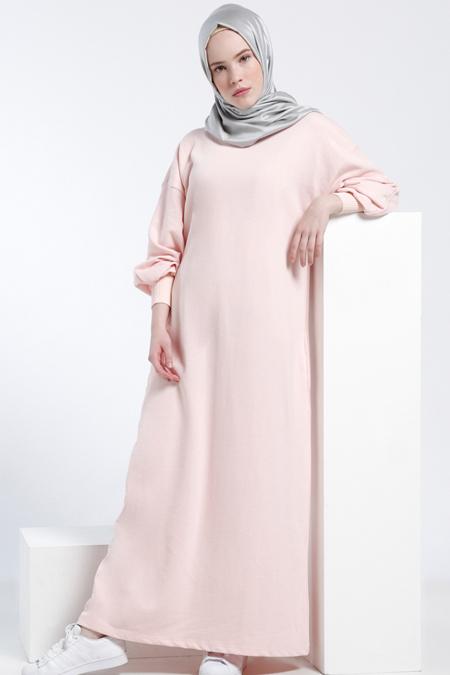 2018 tesettür maxi elbise