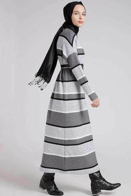 2018 tesettür triko elbise