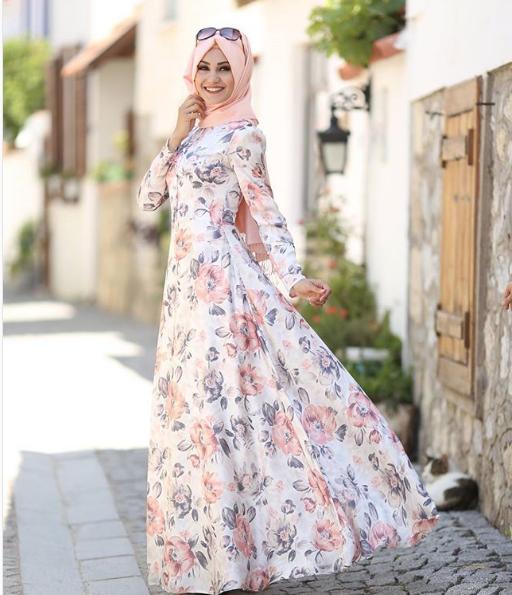 Çiçekli Mezuniyet elbisesi