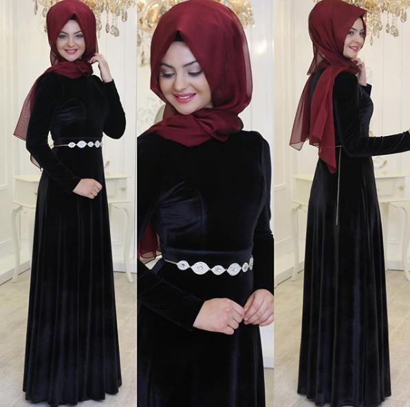 Kadife Mezuniyet elbisesi