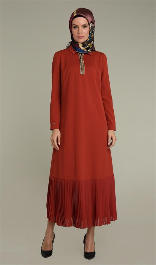 Setrms pile detaylı elbise