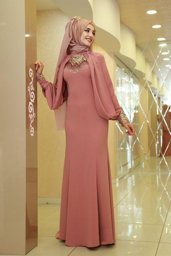Özel tasarım tesettür söz elbisesi