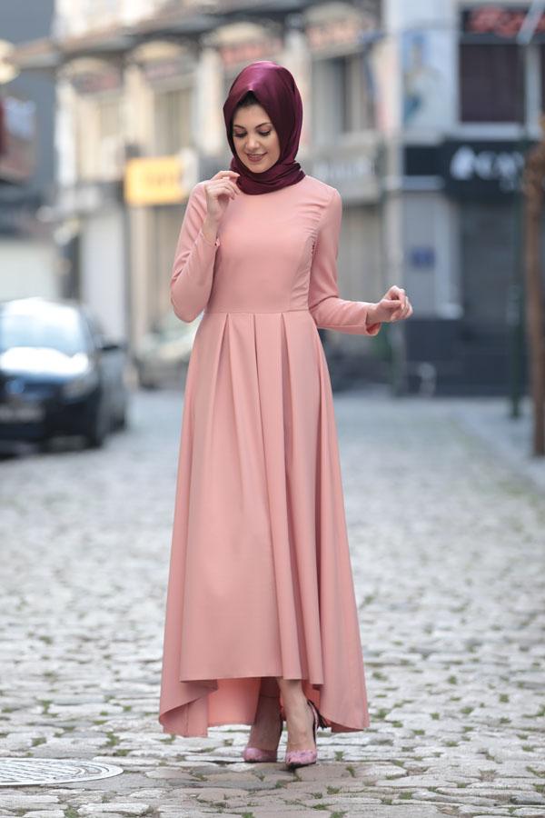 Pudra tesettür söz elbisesi