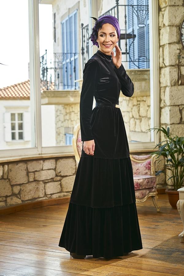 Minel Aşk kadife elbise