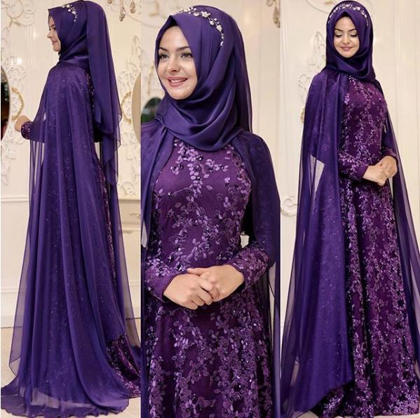 Tesettür kına elbisesi 2018