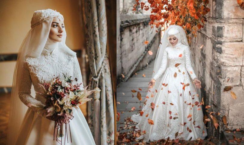 Tesettür prenses gelinlik modelleri 2018