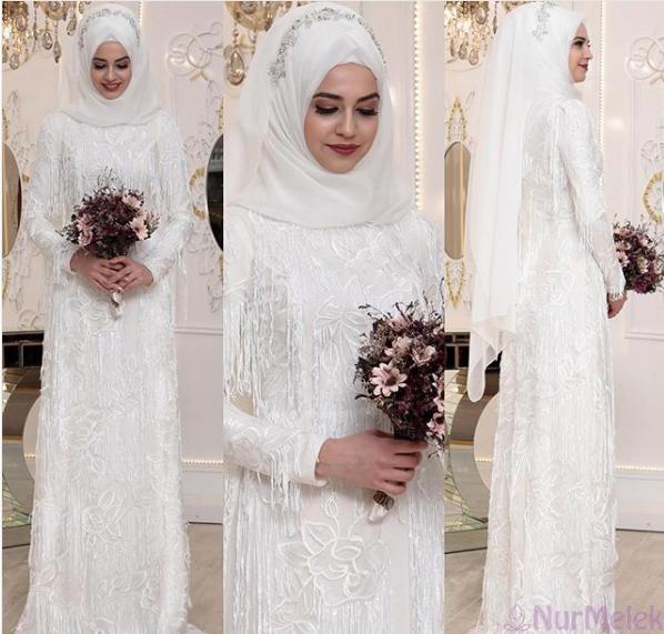 Tesettür nikah elbisesi 2018