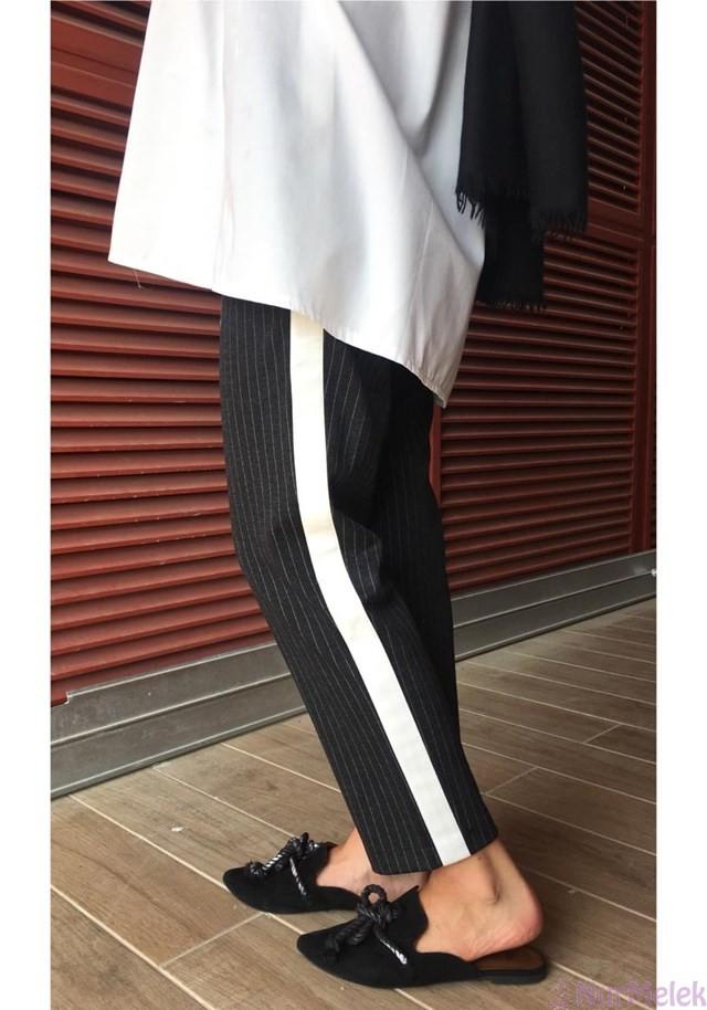 Şeritli pantolon kombinleri