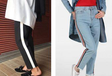 Şeritli pantolonlar