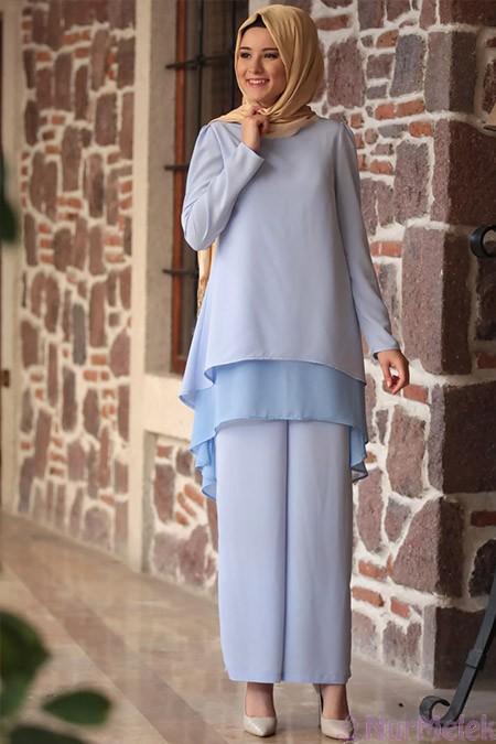 Düğünlük pantolon-bluz kombini-6
