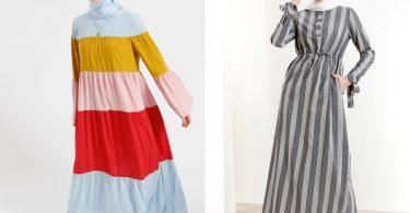 Genç trend tesettür elbiseler