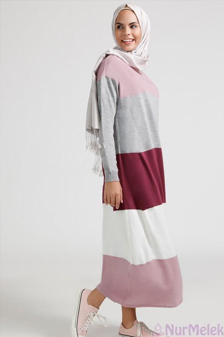 Uzun triko elbise kombinleri-1