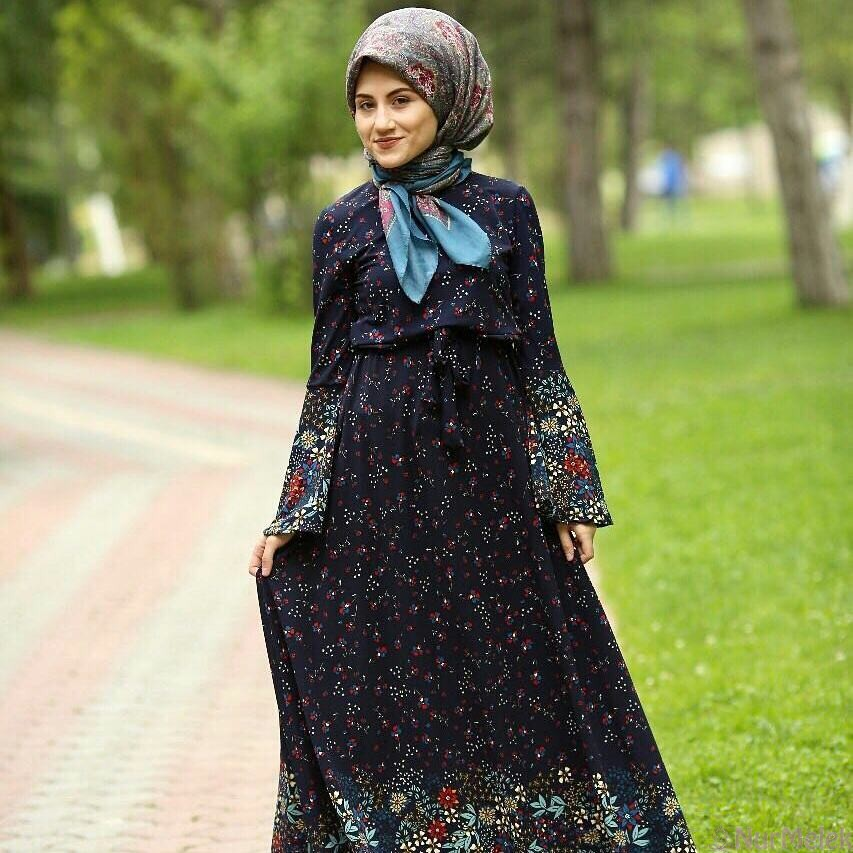 Etnik desen yazlık elbise