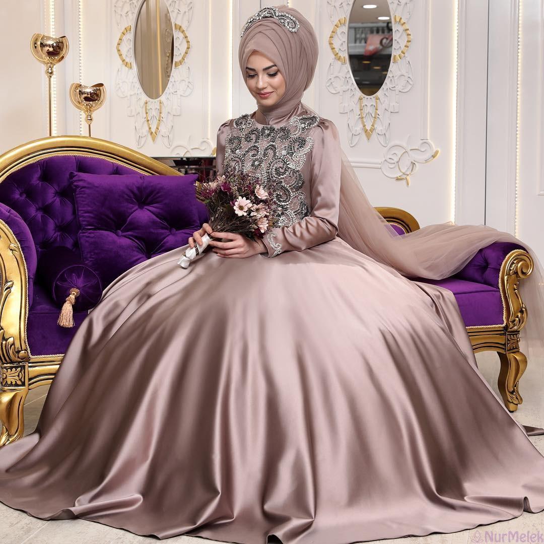 4c019301ae320 Haute Couture Tesettür Abiye Modelleri
