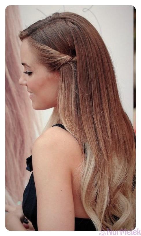 düz mezuniyet saç modeli
