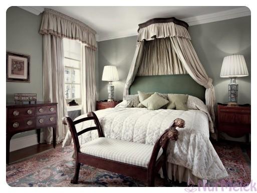 klasik romantik yatak odası modeli 2019