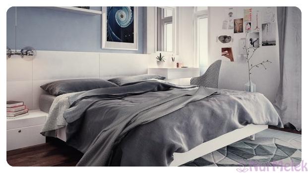 modern yatak odası modeli 2019-4