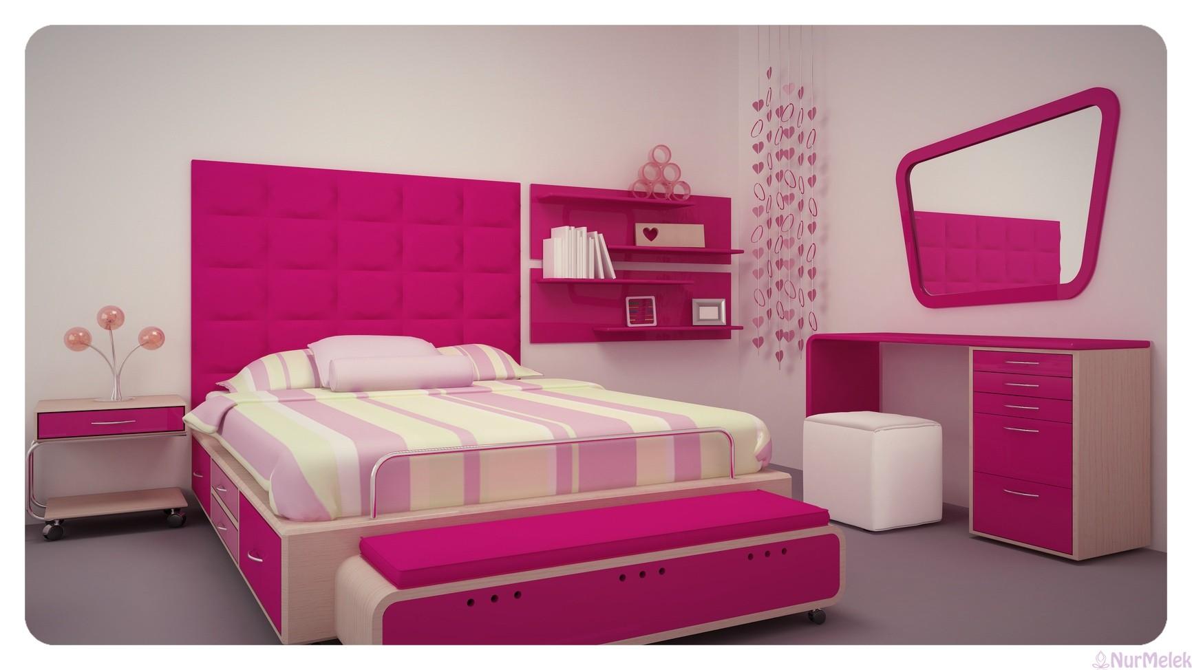 pembe genç yatak odası 2019