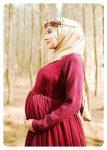 dantelli tesettür hamile elbisesi