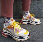 genç bayan Balenciaga spor ayakkabı