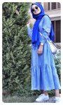 piti kareli genç tesettür elbise