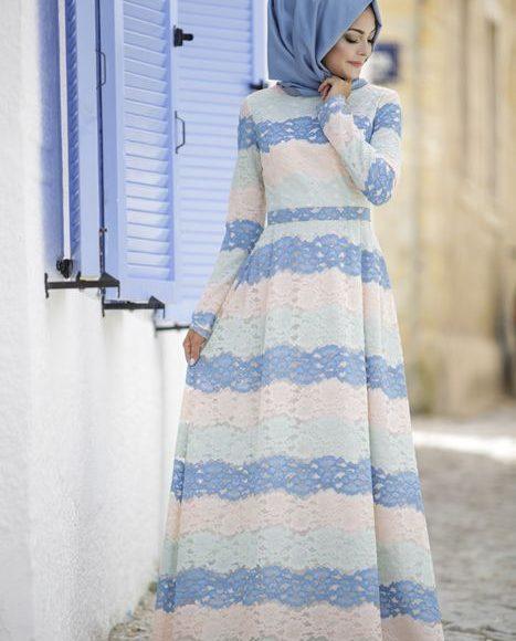 17-18 yaş tesettür abiye elbise