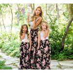 çiçekli abla kardeş elbise modeli