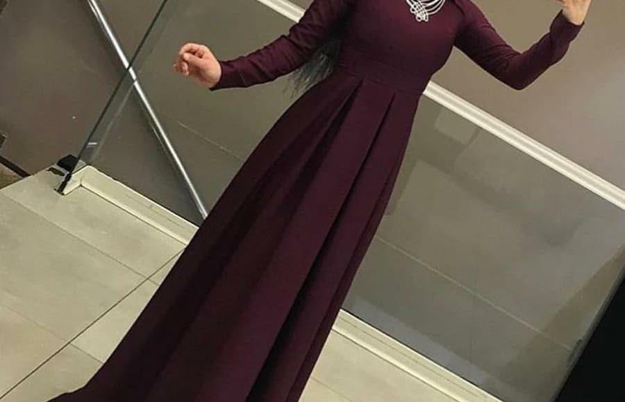 kuyruklu tesettür söz elbisesi