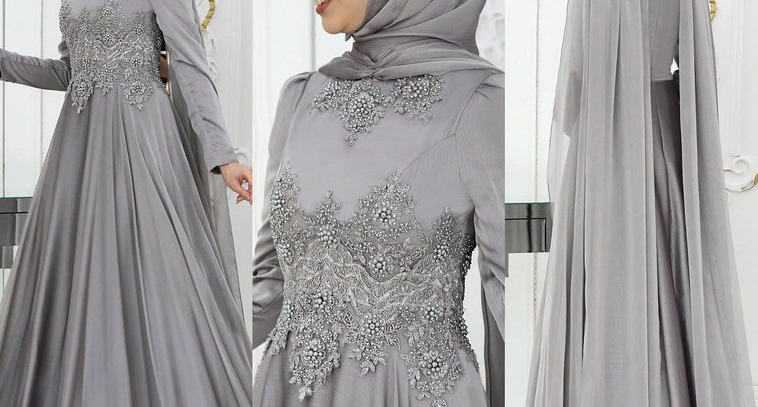 pelerinli tesettür söz elbisesi