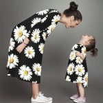 anne kız çiçekli elbise 2020
