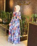 kemerli çiçekli yazlık elbise