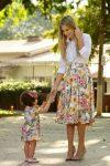 yazlık anne kız kombini 2020
