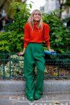 zümrüt bol pantolon-kırmızı kazak